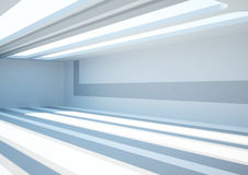 Empty wide room with skylights Royalty Free Stock Image