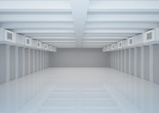 Empty wide room with ventilation, warehouse space Royalty Free Stock Photos