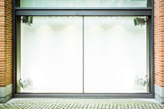 Empty window display. At a store in paris - nice background Royalty Free Stock Photo