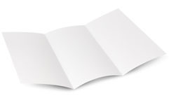 Empty window fold flyer Royalty Free Stock Images