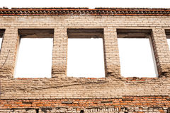 Empty window openings Royalty Free Stock Photography