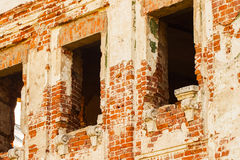 Empty windows of an abandoned medieval manor Stock Photography