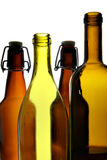 Empty wine and beer bottles royalty free stock photos