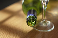 Empty wine bottle Stock Photo