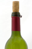 Empty wine bottle. Top of empty wine bottle with real cork Royalty Free Stock Image