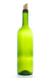 Empty wine bottle with cork Stock Image
