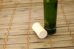 Empty wine bottle with cork. Stock image Stock Images
