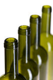 Empty wine bottle on white close up Royalty Free Stock Photo
