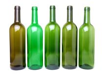 Empty wine bottles Royalty Free Stock Photos