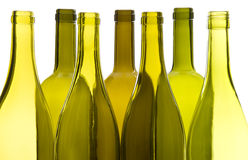 Empty Wine Bottles Stock Photography