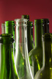 empty wine bottles Royalty Free Stock Image