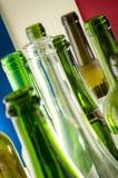empty wine bottles Stock Photos