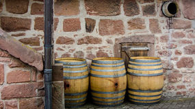 Empty wine casks Royalty Free Stock Image