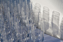 Empty Wine Glases Stock Images