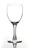 Empty wine glass. With reflection stock photography