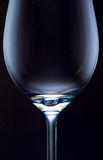 Empty wine glass Stock Image