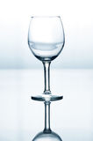 Empty wine glass Stock Images