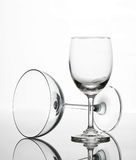 Empty wine glass and cocktail glass art composition creative. Background royalty free stock photography
