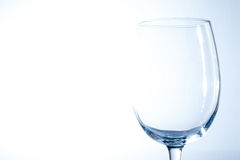 Empty wine glass. On light background Stock Photos