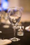 Empty Wine Glass at Wedding Stock Photo