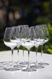 Empty wine glasses Royalty Free Stock Image
