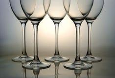 Empty wine glasses Stock Image
