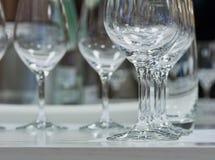 Empty wine glasses closeup Royalty Free Stock Photos