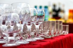 Empty wine glasses Stock Image