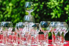 Empty wine glasses Stock Photography