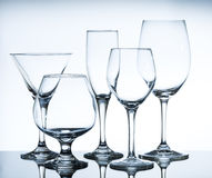 Empty wine glasses Royalty Free Stock Photos