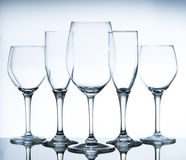 Empty wine glasses Royalty Free Stock Photography