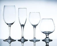 Empty wine glasses Royalty Free Stock Images