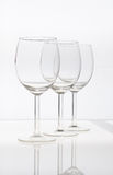 Wine glasses. Empty wine glasses isolated on a white background Royalty Free Stock Images