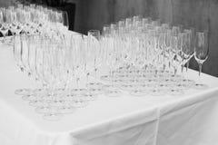 Empty wine glasses Stock Photo