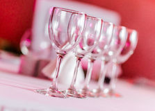 Empty wine glasses Stock Images