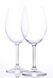2 empty wine glasses Royalty Free Stock Photos