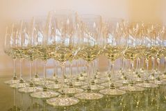 Empty wine glasses. Stock Images