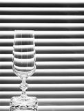 Empty wineglass. On the black and white background Royalty Free Stock Photo