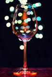 Empty wineglass Royalty Free Stock Image