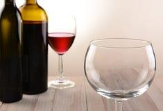 Empty Wineglass Still Life Stock Images