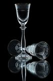 Empty wineglasses on black Stock Photo
