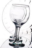 Empty wineglasses and plate Royalty Free Stock Photo
