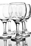 Empty wineglasses with reflection Stock Photography