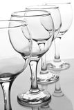 Empty wineglasses with reflection Royalty Free Stock Photos