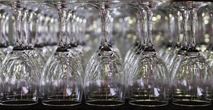 Empty wineglass symmetrical Royalty Free Stock Photo