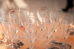 Empty Wineglasses Royalty Free Stock Photography