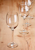 Empty wint glasses Stock Image