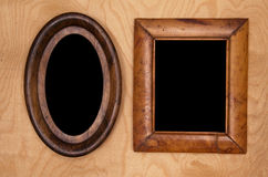 Empty wintage photo-frames stock photo