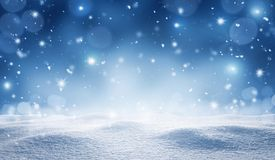 Empty winter, christmas background royalty free stock photos