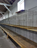 Empty Wire Cages for Chickens, Roosters, Rabbits, or Other Small Animals or Pets, Pennsylvania, USA stock photo